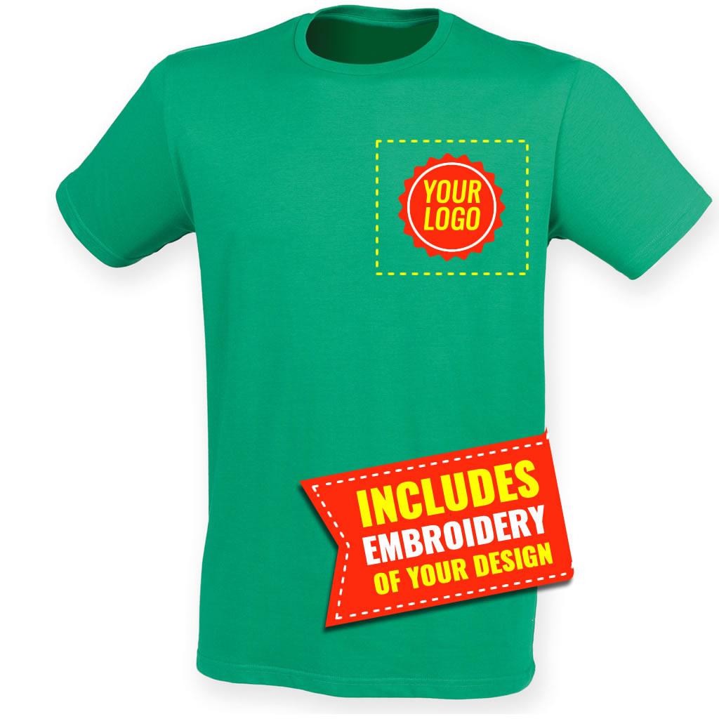 Sf121 E Sf Men Feel Good Stretch T Shirt Embroidered Pb