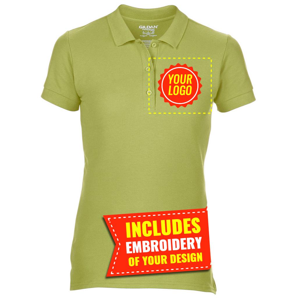 Gd43 E Gildan Premium Cotton Mens Double Pique Polo Shirt