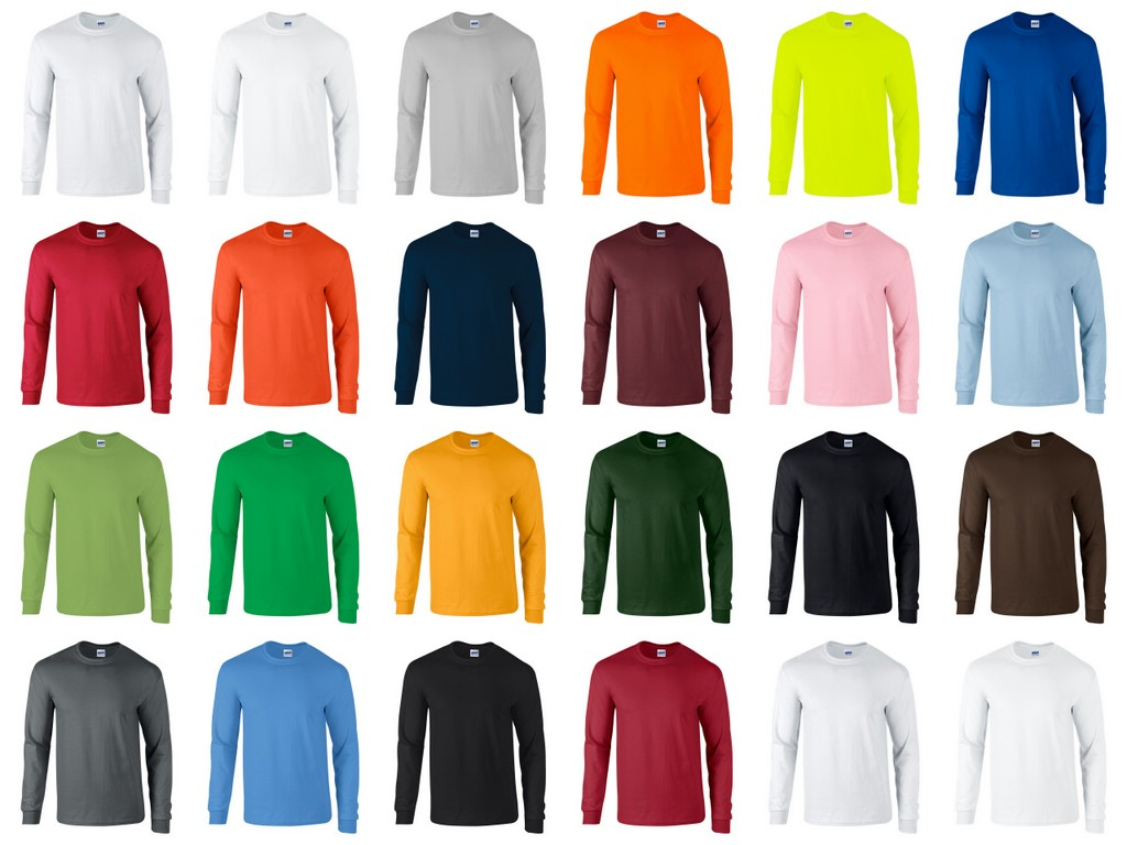 Mens Long Sleeve V Neck Shirts