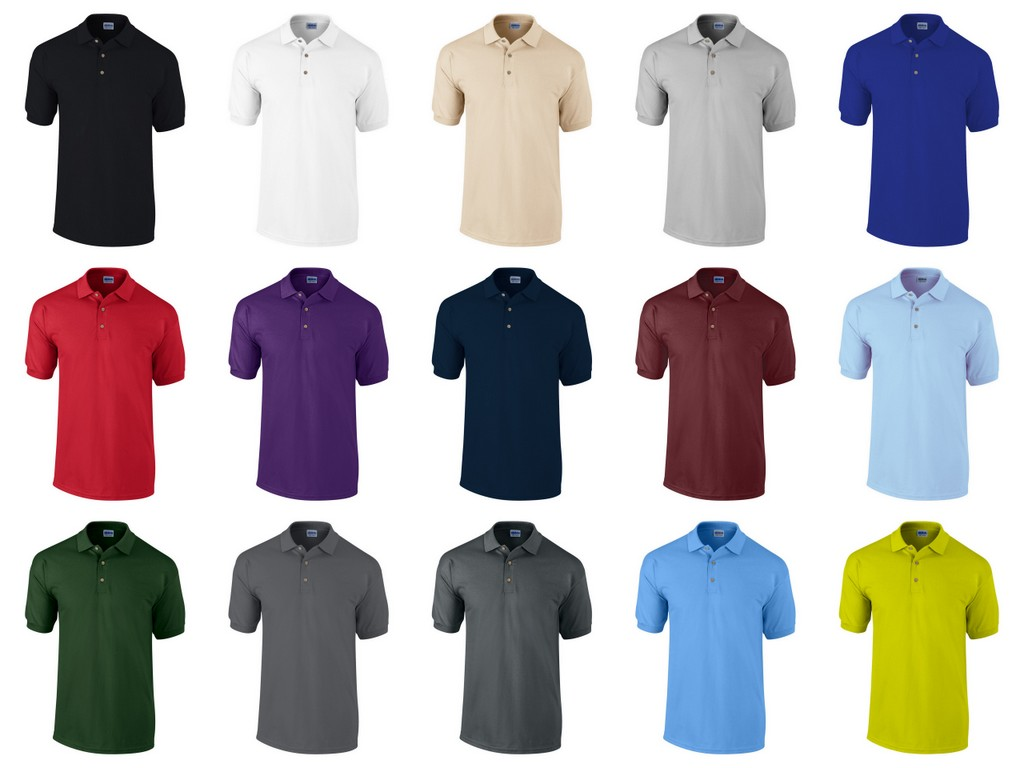 GD38-P Gildan Ultra Cotton Mens Pique Polo Shirt Printed