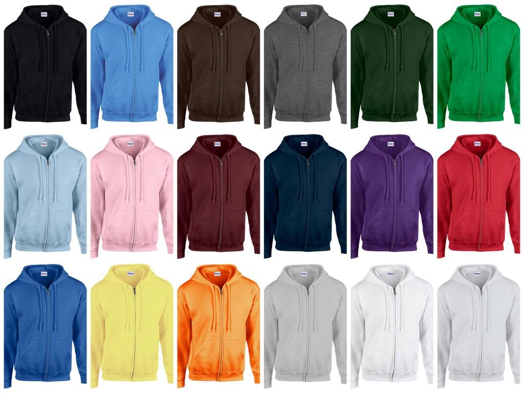 GD58-P Gildan Heavy Blend Zip Hooded Sweatshirt Printed