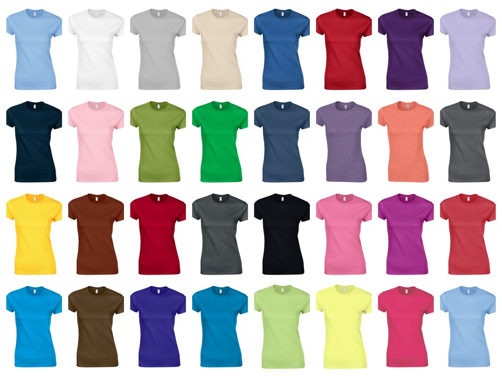 GD72 Gildan Ladies Soft Style Ringspun Fitted T-Shirt - Printed