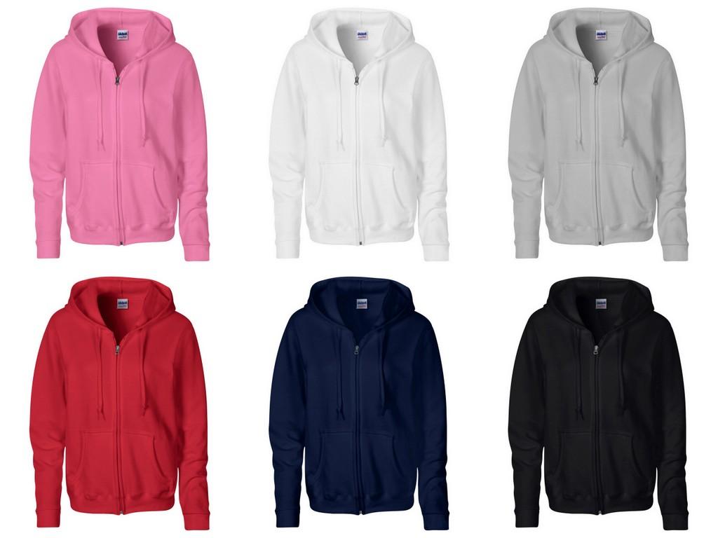 GD80 Gildan Ladies Heavy Blend Zip Hooded Sweatshirt - Embroidered