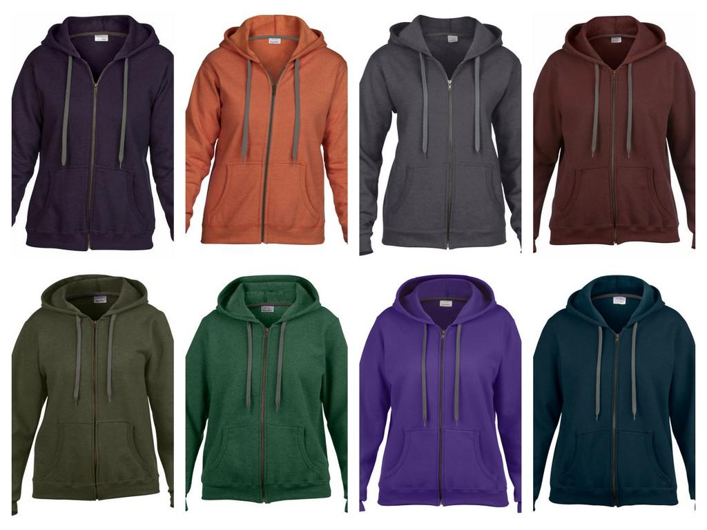 GD81-P Gildan Ladies HeavyBlend Vintage Zip Hooded Sweatshirt - Printed
