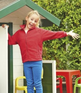 SS50B-P Fruit of the Loom Kids Outdoor Fleece Jacket - Printed