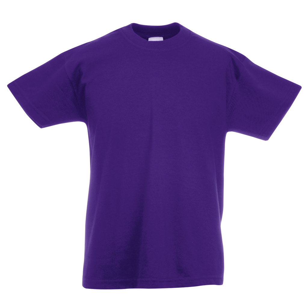 Ss6b Fruit Of The Loom Kids Value T Shirt Pb Leisurewear