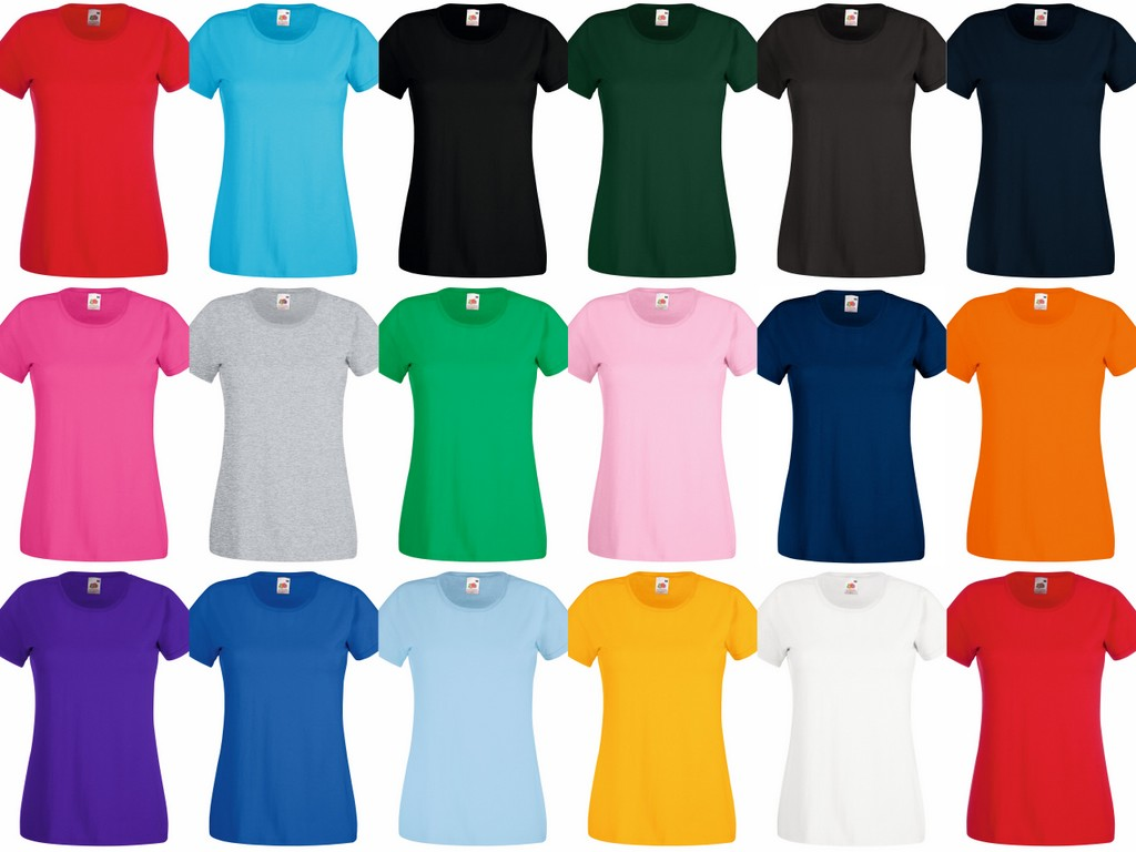 SS77 Fruit of the Loom Lady Fit Value T-Shirt - Printed