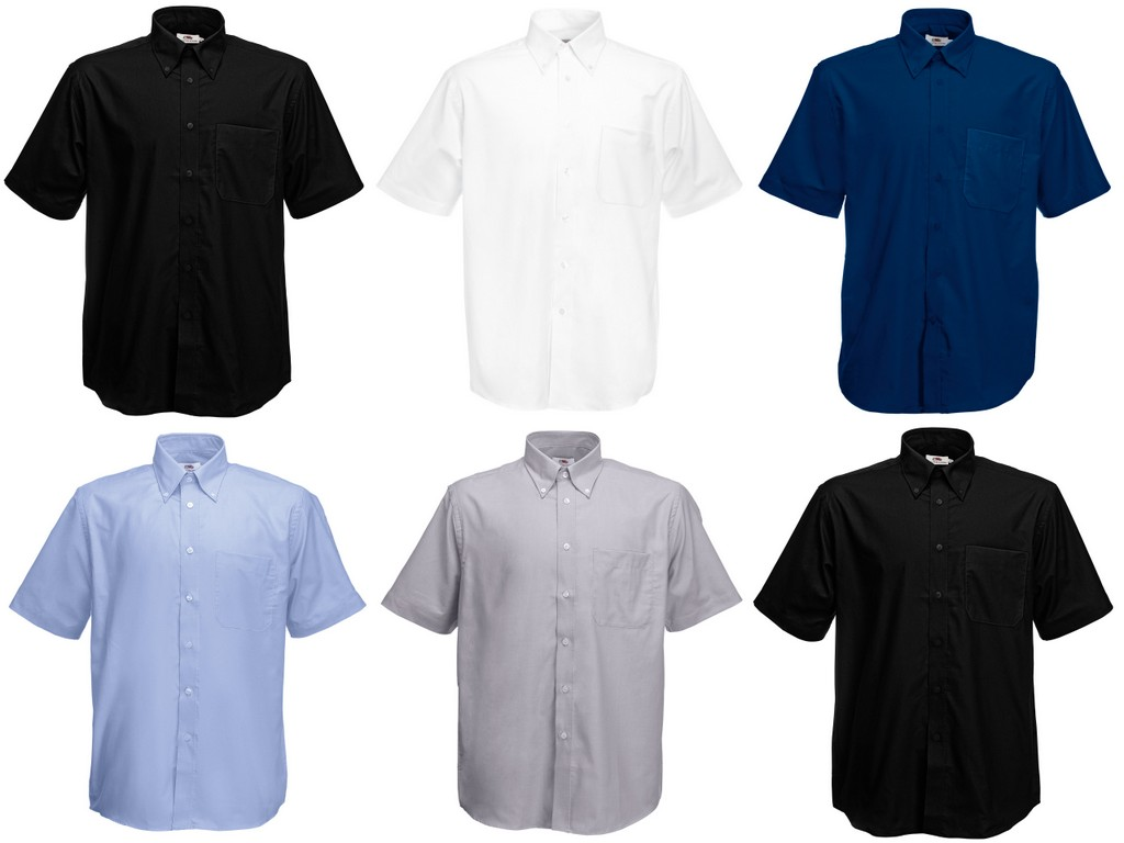 SS401-E Fruit of the Loom Short Sleeve Oxford Shirt - Embroidered