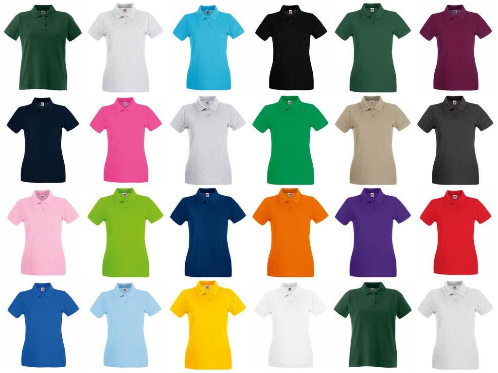 de45f4e7 SS89 Fruit of the Loom Lady-Fit Premium Cotton Pique Polo Shirt