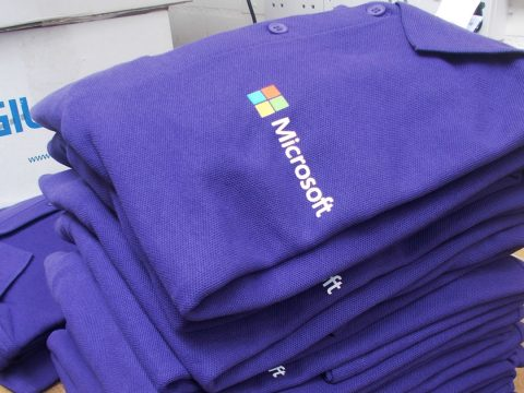 Microsoft poloshirts