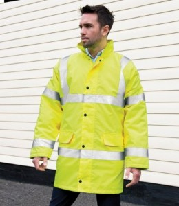 RS218-P Result Core Hi-Vis Motorway Coat - Printed