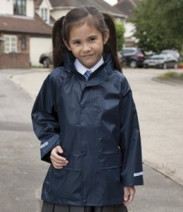 RS227B-E Result Core Kids Waterproof Over Jacket - Embroidery