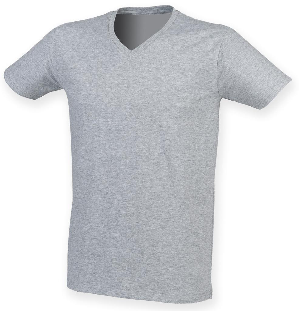 SF Men Feel Good Long Sleeve Stretch T-Shirt Soft Feel Longer Length Tee