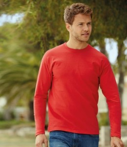 SS21 Fruit Of The Loom Long Sleeve T-Shirt
