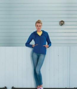 266F Russell Ladies Authentic Zip Hooded Sweatshirt