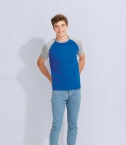 11190 SOL'S Funky Contrast Baseball T-Shirt