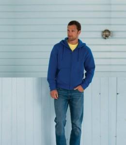 266M Russell Authentic Zip Hooded Sweatshirt Printed